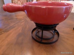 Ceramic Fondue Pot Emile Henry